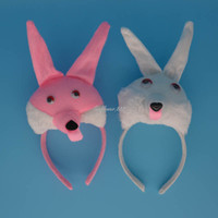 XMAS Party Rabbit Bunny EAR Animal Band Costume di Halloween Bianco Rosa