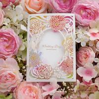 Nueva Llegada Hermosa Flor de Primavera Personalizada Personalizada Impresión Personalizada Invitaciones de Boda Tarjetas de Envío Libre de Encargo