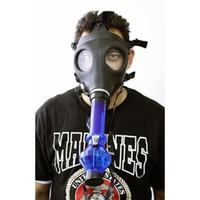 새로운 최고의 마스크 봉 가스 마스크 물 파이프 담배 물 파이프 밀폐 아크릴 물 담뱃대 파이프 - 봉 - 필터 흡연 파이프