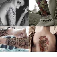 Tatuagens do corpo adesivo arte tatuagem temporária pintura aquarela pintura decalque impermeável para mulheres e homens