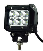 """送料無料4 """"18W 6-LED *(3W)CREE LED作業灯販売バーOFF-ROAD SUV ATV 4WD 4X4 9-32V 1600LM IP67ジープオートバイヘッドランプ"""