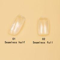 Unghie finte Mezze unghie Art False punte in acrilico finte per unghie 2 borse (500 pezzi / borsa) Senza cuciture Clear FullHalf Cover Nail G4