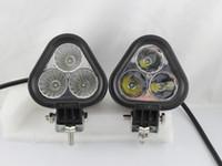2019 Yeni Varış 30 W LED İş Işık Su Geçirmez 4X4 Off road SUV Kamyon Tekne Sis Işık 12 V 24 V Üçgen 10 W CREE LED Çalışma Işıkları