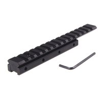 Compatto da coda di rondine a Weaver Picatinny Rail Base Scope Mount Adapter Airgun Scope Mount 11 mm Long Base Adapter