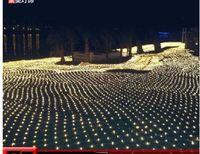 10m * 8m LARD2000 LED filet lumineux lumineux lampes flash lampes nettes étanche étanche barre d'extérieur de la décoration