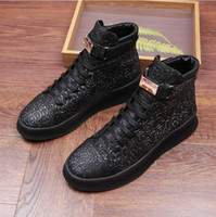 2017 New style Autumn Fashion boots Casual Men Lace- up Flat ...