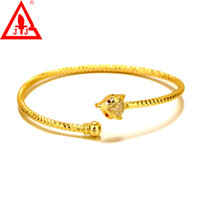 24K Gold Filled Bangles Top Quality New Arrival Luxury Fox R...