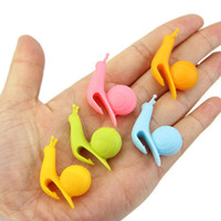 Randome Color - Cute Snail Shape Silicone Tea Bag Holder Cup...