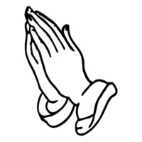 Praying Hands Religious Christian Car Truck Window Laptop Vi...