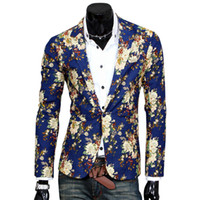 Wholesale- Top Suit Jacket For Men Terno Masculino Completi Blazer Giacche Traje Hombre Casual Blazer UomoSize S-XXL