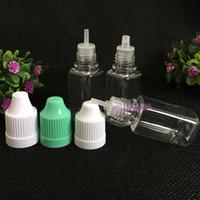Großhandel 10000pcs Platz Flasche E Cig Ölflasche 10ml PET leere Tropfflaschen mit Kind Proof Caps Für E-Liquid e-Saft zu verkaufen