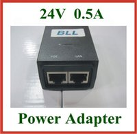 20PCS 24V 0.5A شاحن RJ45 موصل POE الطاقة عبر محول إمدادات الطاقة إيثرنت