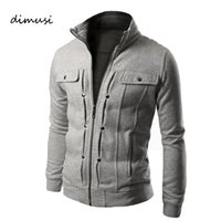 Wholesale- DIMUSI Hoodies Mens Sportwear Zipper Decoration S...