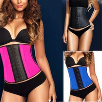 100% Latex Underbust Body Shaper Waist Clincher Corset Train...