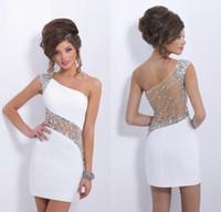 Corto vestidos de fiesta 2014 nueva moda apretada cristal blanco sexyparty vestidos envío gratis internacional diseño sexy vestidos de regreso al hogar