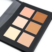 컨투어 팔레트 전문 6 색 컨실러 위장 메이크업 Palatte 1 PCs Concealer Face Primer Net 30g 모든 피부 유형