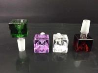 1 шт. куб стеклянная чаша толщиной стекла бонг кальян курение аксессуар 1418 мм совместное мужской чаша на складе