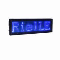 LED insignia de nombre Pantalla LED Acrílico y azul Materiales LED Signos publicitarios LED Construido en batería Múltiples idiomas de alta calidad B1248B