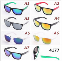 2017 HOT Colorful reflective sunglasses, outdoor sports riding glasses, reflective sunglasses 4177, a variety of style sunglasses Wholesale