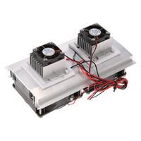 Freeshipping Thermoelectric Peltier Refrigeration System System Kit Semiconductor Cooler Radiador grande Módulo de conducción fría Fans Double