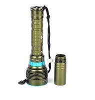 Skyray DX7 LED الغوص مصباح يدوي 7 × كري XM-L L2 14000 شمعة 150 متر تحت الماء الغوص غواص الفانوس الشعلة + بطارية + شاحن