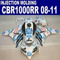 Stampaggio ad iniezione per HONDA CBR1000RR Kit carenatura 2009 2009 2010 2011 Black Blue Bianco CBR 1000RR Fieristiche in plastica 08 09 10 11 # U22