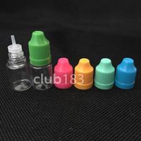 envío libre plástico de alta calidad eLiquid Botella 5 ml 10 ml 15 ml 20 ml 30 ml PET Botellas Niño prueba larga y delgada Consejos