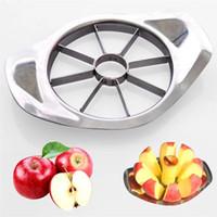 도매 무료 배송 스테인레스 스틸 사과 슬라이서 야채 과일 사과 배 커터 슬라이서 가공 주방 슬라이스 나이프기구 도구