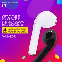 I7 Mono Single Wireless Bluetooth Headphone Headset Earbuds Earphone для Android iphone Phone Shenzhen Cheap Free Shipping