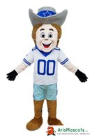 100% real photos Dallas Cowboy Rowdy mascot suit Sports masc...