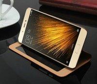 비즈니스 Xiaomi Mi5 M5 케이스 커버 Luxury Flip Window Xiaomi Mi5 Mi5s M5 M5s를위한 다채로운 울트라 - 씬 정품 가죽 케이스
