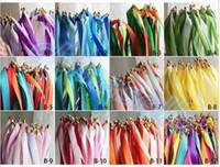 Düğün renkli üç şerit değnek ile çan düğün konfeti akışı şerit sihirli değneklerini peri sopa düğün şenlikli parti malzemeleri Sticks