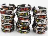 100pcs Bob Marley MEN Stainless Steel Band Rings Jamaica Rasta Punk Cool Rings Wholesale Fashion Jewerly Lots
