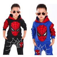 HOT Spider- man Baby Kids Clothes Sets 2 Colors Superhero Bab...
