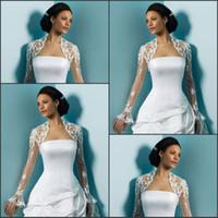 Самые популярные с длинными рукавами свадебные куртки Applices Tulle пользовательские короткие свадебные куртки Bolero Bridal аксессуары в наличии