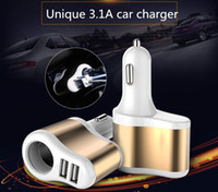 Fast charger 5V3. 1A universal car charger dual USB car charg...