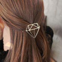 دبابيس الشعر مثلث هندسي الماس دبوس الشعر المجوهرات مقطع الشعر للنساء المشابك رئيس الملحقات