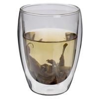 Großhandels-Hoher Standard-heißer Verkauf 350ml Doppelwand-Glasdoppelglas-Kaffeetasse-Glaswaren-Becher und Schalen Neue Technologie