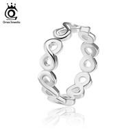 Орса JEWELS +2017 Мода Infinite розовое золото Цвет / Silver Цвет 8 шрифты Кольца Lead никеля бесплатно белый латунный кольцо для женщин OR150