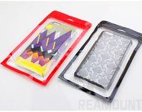 البلاستيك بولي مقابل زيبر حقائب حزمة البيع بالتجزئة حقيبة لفون 7 7 بالإضافة إلى شنق هول التغليف حقيبة RedBlack