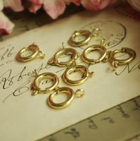 DIY jóias encontrar acessório para as mulheres que fazem a fábrica direto 6mm fivela de bronze primavera anel fivela anel de mola 10 bruta 1440 pçs / lote YY000005