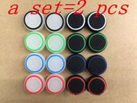 2 قطع جديد 3d سيليكون الملونة كاب مكافحة زلة thumbsticks المقود قبعات غطاء ل ps3 / ps4 / xbox one / xbox 360 تحكم لاسلكي