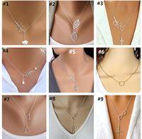 Мода Серебряное ожерелье простой Оливковая ветвь сова крест лист птица Перл кольца ожерелье для женщин ювелирные изделия для любви подарки бесплатная доставка