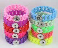 2016 Hot sales of silicone twist Noosa Bracelet Snap mixed c...
