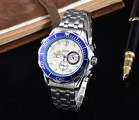 All Subdials Work Mens Watches Steel Quartz Wristwatches Sto...