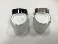 Livraison gratuite - pot de crème pour le verre givré 50 g, contenant en verre, emballage cosmétique