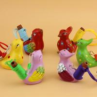 Seramik Su Kuş Düdük Benekli Ötleğen Şarkı Chirps Ev El Sanatları Dekorasyon Çocuk Çocuk Hediyeler