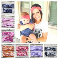 2pcs / set Fasce Mamma e Me corrispondenza turbante fascia per gli accessori dei capelli banda fascia Mommy and Newborn Topknot capelli