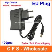 100шт AC 100V-240V адаптер конвертер DC 12V 9V 1A / 5V 2A питания ЕС Plug с IC версии Fedex DHL Бесплатная доставка