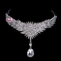 2015 Hot Incredibile Sposa di cristallo fronte decorativa moda gioielli da sposa accessori per capelli da sposa copricapo da sposa